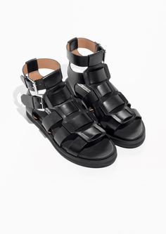 & Other Stories image 2 of Gladiator Leather Sandal in Black
