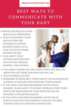 Great reminders for first time parents of infants and babies up to age 1.