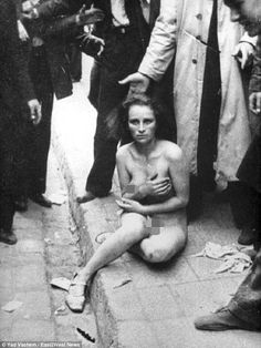 Cruelty: The Nazis mowed people down in a 'Holocaust of Bullets' and also subjected Jews to horrendous public humiliation by forcing them to strip in the streets (pictured) before beating them