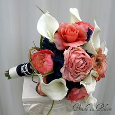 coral and navy... :)