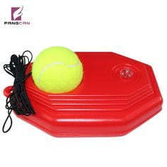 2 pcs FANGCAN Tennis Training Aid Classic Style High Density PE Aid for Solo Training, Durable tennis ball with string