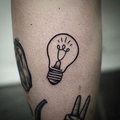 Afbeeldingsresultaat voor lightbulb tattoo meaning