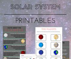 Solar System Printables - The Homeschool Scientist