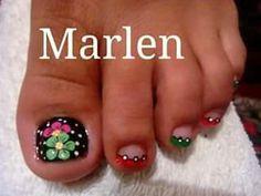 Pedicure Nail Art, Toe Nail Art, Colorful Nail Designs, Beautiful Nail Designs, Cute Toe Nails, Pretty Nails, Cute Pedicure Designs, Nail Art Photos, Cute Pedicures