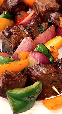 Marinated Steak Kebabs