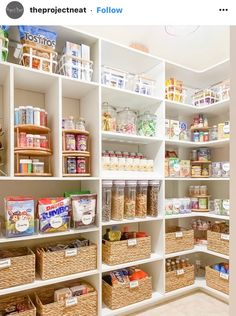 dreams of farmhouse living – modern farmhouse design in suburbia Pantry Organisation, Pantry Room, Kitchen Pantry Design, Kitchen Organization Pantry, Home Organization Hacks, Organizing, Kitchen Storage, Pantry Inspiration, The Home Edit