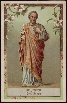 Wednesdays are dedicated to St Joseph Very lovely images and St Theresa writing… St Joseph, Jesus Mary And Joseph, Catholic Art, Catholic Saints, Roman Catholic, Catholic Relics, Religious Images, Religious Art, Jesus Jose Y Maria