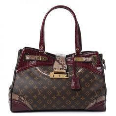 This is an authentic LOUIS VUITTON Monogram Python Alligator Monogramissime  Exotic Shopper GM in Bordeaux. d27473011b