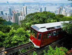 the tram to Victoria Peak -- magnificent views in all directions from up there!