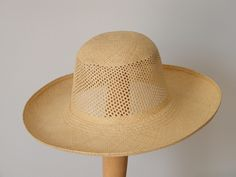 Panama sun hat / long brim summer hat for women / sun protection hat / Audrey Hepburn hat made in Israel by RanaHats on Etsy