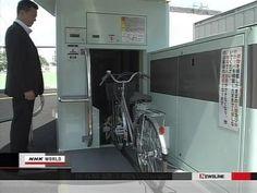 ▶ New technology for parking bicycles تقنية حديثة لتخزين (اصطفاف) الدراجات - YouTube