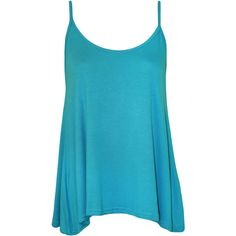 Dalia Strappy Swing Top ($9.22) ❤ liked on Polyvore featuring tops, turquoise, blue tank, strappy top, stretch tank top, strappy tank and trapeze top