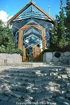 wayfarers chapel in palos verdes caglass church