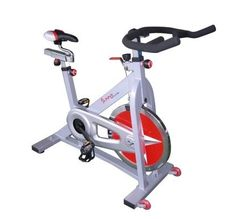My home spin bike. Can't beat spinning to your own class! :)