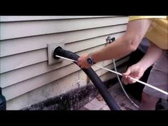 DIY Clean a Clothes Dryer Vent with Linteater Kit - YouTube