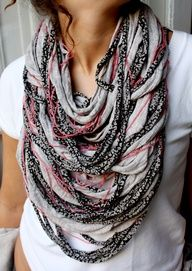 Cute shredded scarf