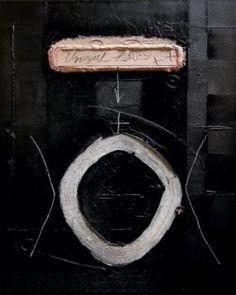 Christo Kasabov, Oval, acrylic,wood and oil stick on canvas.