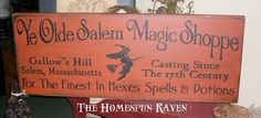 Ye Olde Salem Magic Shoppe Gallows Hill by thehomespunraven, $36.00