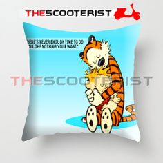 "Calvin And Hobbes quote - Pillow Cover 18"" x 18"" - One Side by TheScooterist on Etsy"