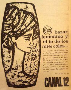 Publicidad de CANAL 12, Córdoba, 1965.