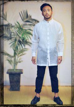 Throwback Gardan barong with modern slim fit Barong, Chef Jackets, Slim, Fitness, Modern, Fashion, Moda, Trendy Tree, Fashion Styles