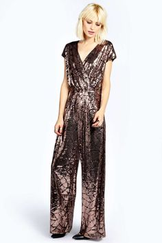 Boutique Anna All Over Sequin Wrap Jumpsuit alternative image