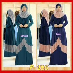 Model baju muslim syar i remaja madani hijab P 185 Gamis Modern 09c85b7295