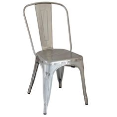 These galvanized steel French bistro chairs are available in a range of colors that make it suitable for any environment. With a high, curved back, the Retro Tolix Metal Chair does not compromise on comfort and is one not to be missed.