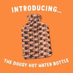 Your dog on a hot water bottle cover! Upload a photo of your dog and we will create the perfect custom hot water bottle, in a funky mash up design! Small Pug, Water Bottle Covers, T Shirts Uk, Large Dog Breeds, Tom Hanks, Bichon Frise, Westies, Yorkshire Terrier, Warm