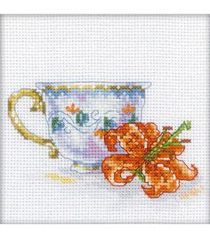 RTO Lily Tea Party Counted Cross Stitch Kit