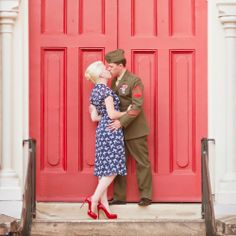 Men in uniform and their gorgeous gals ~ 5 charming military engagement shoots!