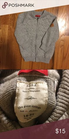 Zara boys sweater 18-24 months Grey, used once or twice in new condition Zara Shirts & Tops Sweaters