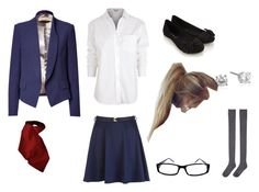 """""""Gotham Academy uniform"""" by katodonnell ❤ liked on Polyvore featuring Paul Smith, KaufmanFranco, Accessorize and Hansel from Basel"""
