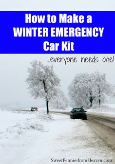 How to Make a Winter Emergency Survival Kit for Your Car. Everyone needs one and they're really simple to put together. You probably already have just about everything on hand.