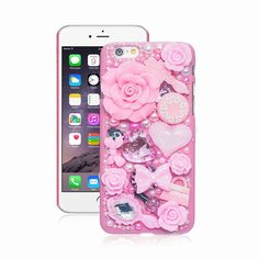 Fashion Pearl Crystal 3D Case For iPhone 6 5 5S 5C 6 plus Hard Cover Phone Cases For Apple iPhone 6S Case accessories protector