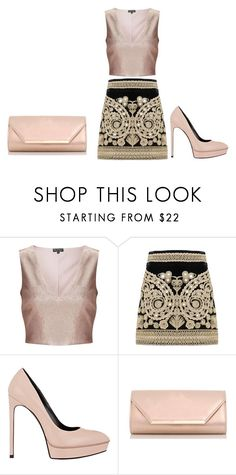 """""""26.02.2017."""" by crazygirlandproud ❤ liked on Polyvore featuring Miss Selfridge, For Love & Lemons, Yves Saint Laurent and Dorothy Perkins"""