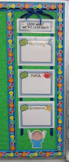 "O ""FISH"" ally a First Grader: Learning Targets. Simple setup, would fit next to my Homeworkopoly board"