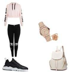 """Dot dare to look at me"" by anttila-susanna on Polyvore featuring Boohoo, NIKE and Burberry"