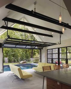 Home indoor outdoor pool | ... pool house design connecting home interiors and outdoor swimming pool