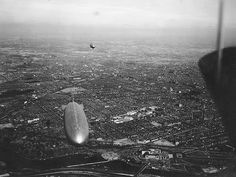 USS AKRON (ZRS 4) and USS LOS ANGELES (ZR 3) over Philadelphia