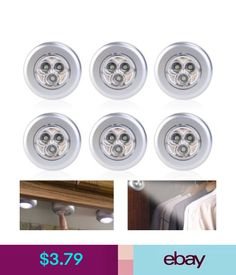 Lightmates wireless led puck lights rp 005 yo9rp 005 2 remotes 10 set of 6 led under cabinet kitchen counter light closet puck wireless led lights ebay aloadofball Gallery