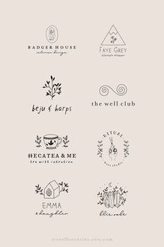 Branding and Graphic Design by IreneFlorentina Logo Branding, Branding Design, Corporate Branding, Brand Identity, Organic Logo, Hand Drawn Logo, Photography Logo Design, Floral Logo, Custom Logo Design