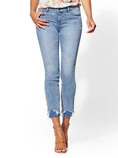daa6b3253ef Double-Hem Ankle Skinny Jeans - Soho Jeans