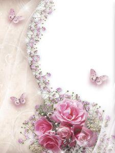 Women's Photo Frame - Roses