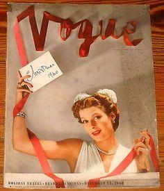 VINTAGE VOGUE FASHION MAGAZINES collection on eBay!