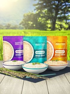 Rice brand creation and packaging design case study.