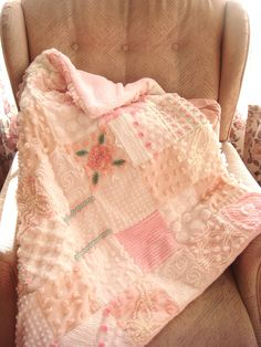 Sweet pink baby quilt