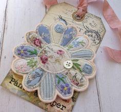 Textile Flower Brooch