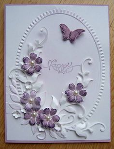 Butterfly and flowers by Dolly Watt - Cards and Paper Crafts at Splitcoaststampers