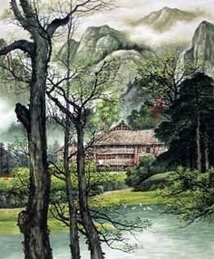 Chinese Village Countryside Painting,120cm x 95cm,1135025-x